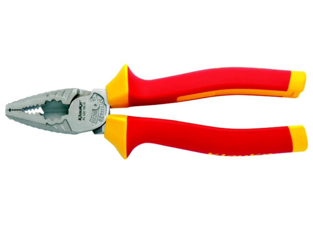 Фото Комбинированные пассатижи с изолированными рукоятками (180 мм) {klkKL020180IS}