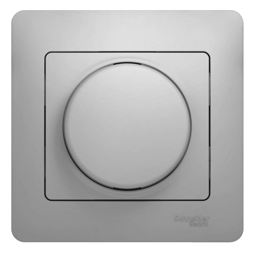 Фото Светорегулятор GLOSSA (диммер) поворотный, 300вт, в сборе, алюминий {GSL000334}