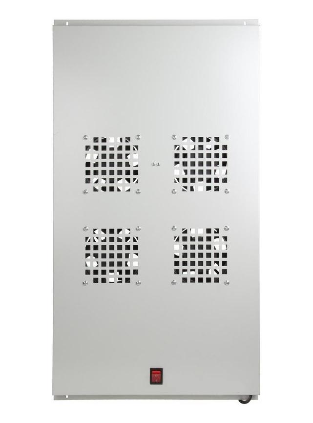 Фото Модуль вентиляторный потолочный Rexant с 4-мя вентиляторами, без термостата, для шкафов серии Standart с глубиной 1000 мм {04-2602} (1)
