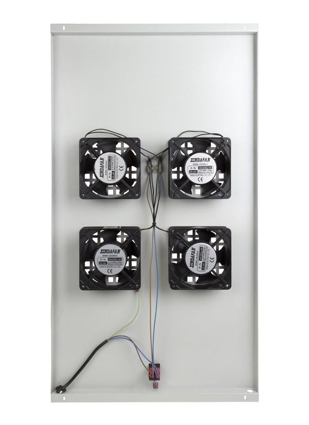 Фото Модуль вентиляторный потолочный Rexant с 4-мя вентиляторами, без термостата, для шкафов серии Standart с глубиной 1000 мм {04-2602} (2)