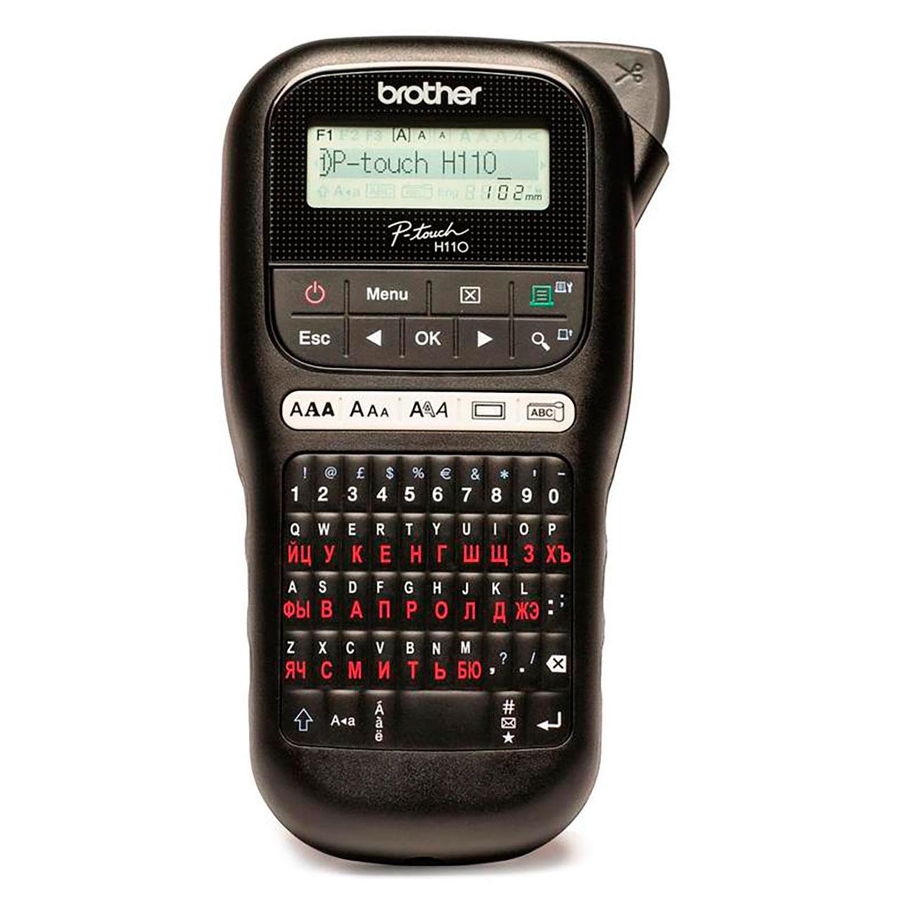Фото Принтер для печати этикеток Brother PT-H110 + 5 кассет {PTH110R1BUND} (1)