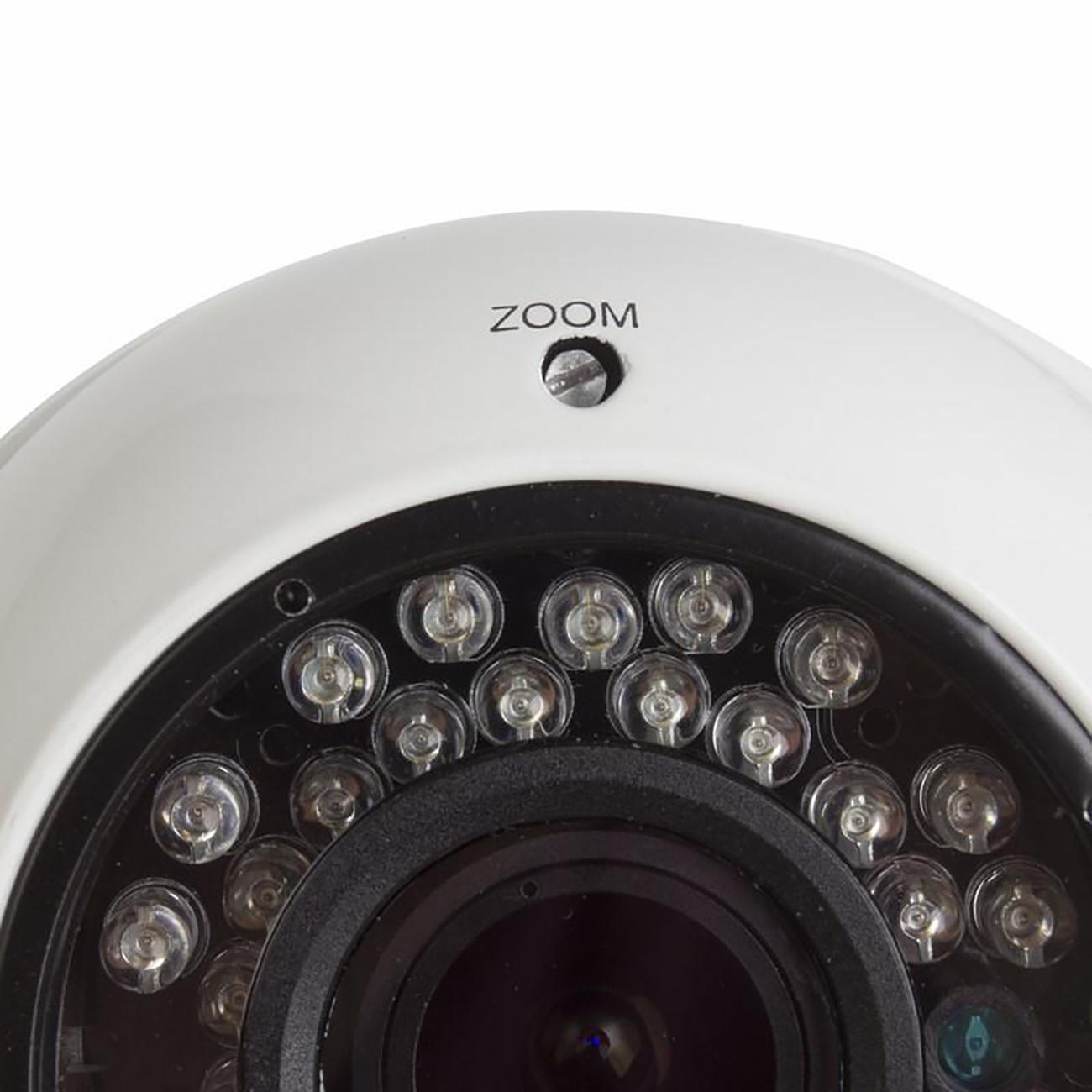 Фото Купольная IP видеокамера Rexant вандалозащищенная, 4 Мп, ИК, PoE {45-0373} (1)
