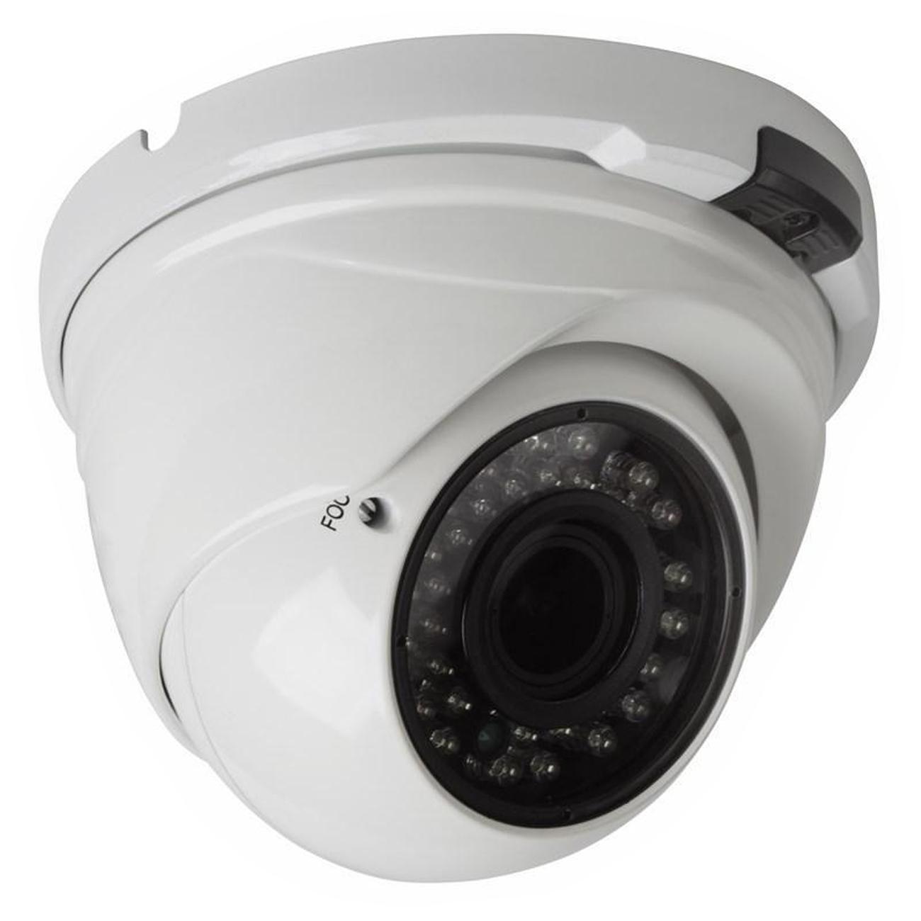 Фото Купольная IP видеокамера Rexant вандалозащищенная, 4 Мп, ИК, PoE {45-0373}