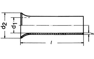 Фото Наконечник втулочный неизолированный посеребренный Klauke 2.5 мм², длина втулки 20 мм {klk7320} (1)
