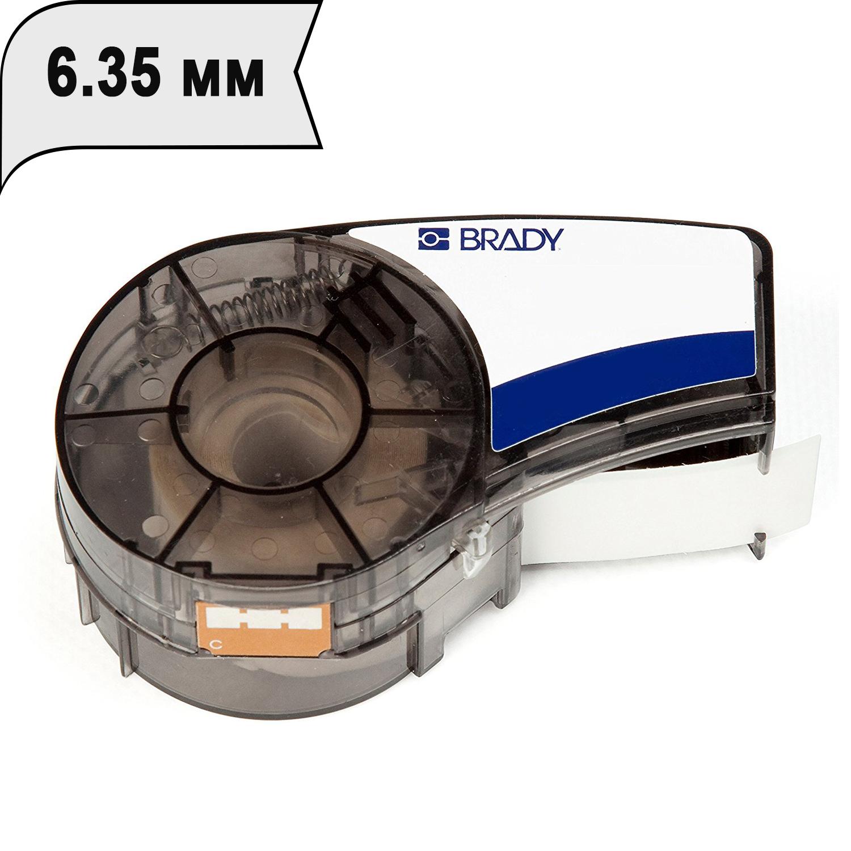 Фото Лента Brady M21-250-430 (6.35 мм, черный на прозрачном) {brd139755}