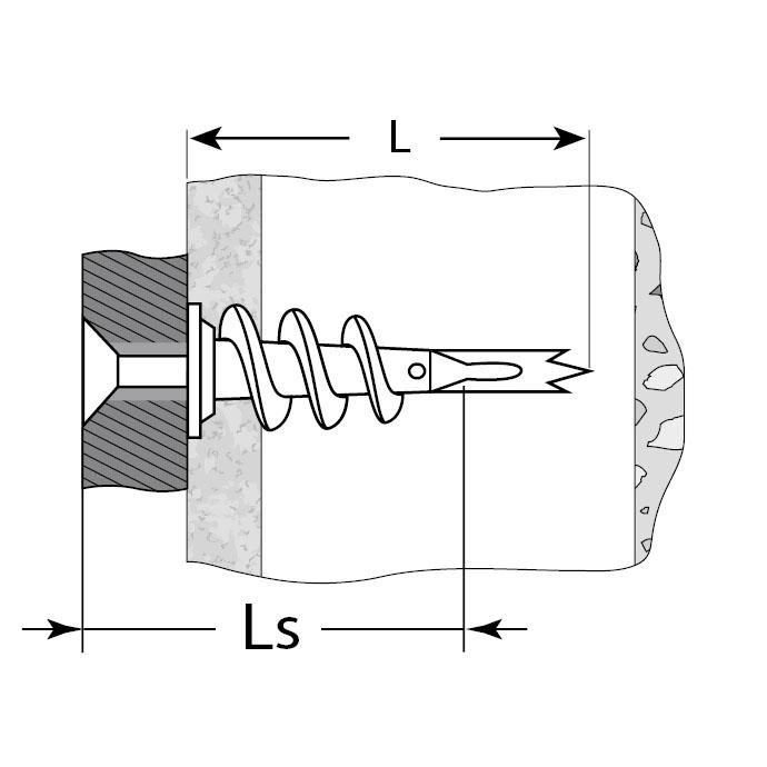Фото Дюбель металлический со сверлом, для гипсокартона, 4-301285, 33 мм, 46 шт, ЗУБР (1)