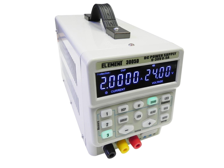 Фото Лабораторный блок питания импульсный ELEMENT 3005D (30V 5A) {16554} (1)