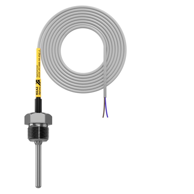 Фото Датчик температуры погружной OptiSensor ESTF-PT1000-50-PVC-2 КЭАЗ 285967