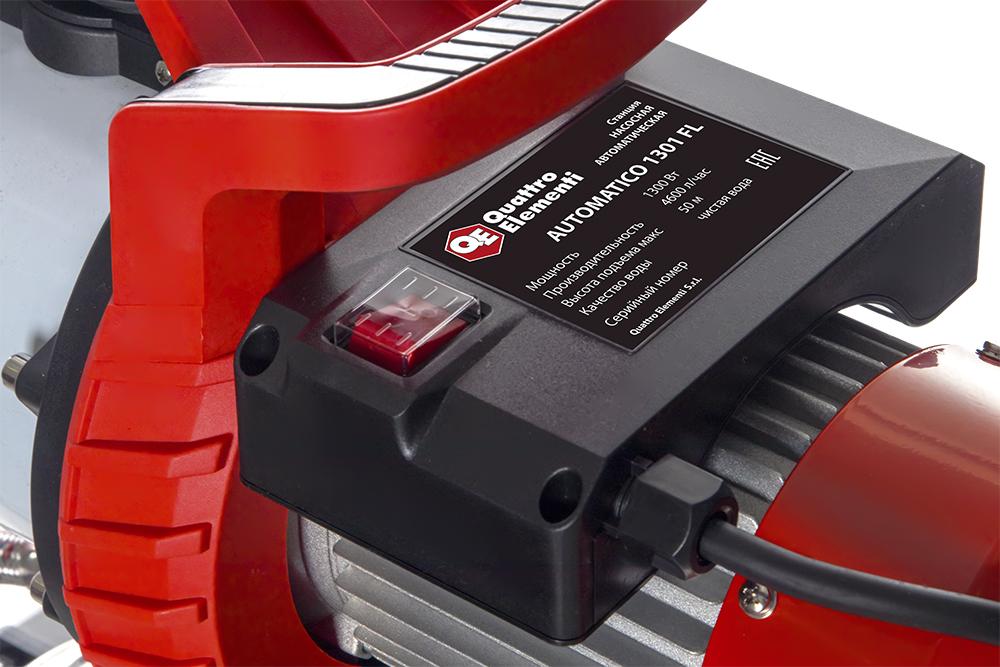 Фото Насосная станция Quattro Elementi Automatico 1301 FL Inox (1300 Вт, 4600 л/ч, для чистой, 50 м, 16,2 кг) {910-249} (4)