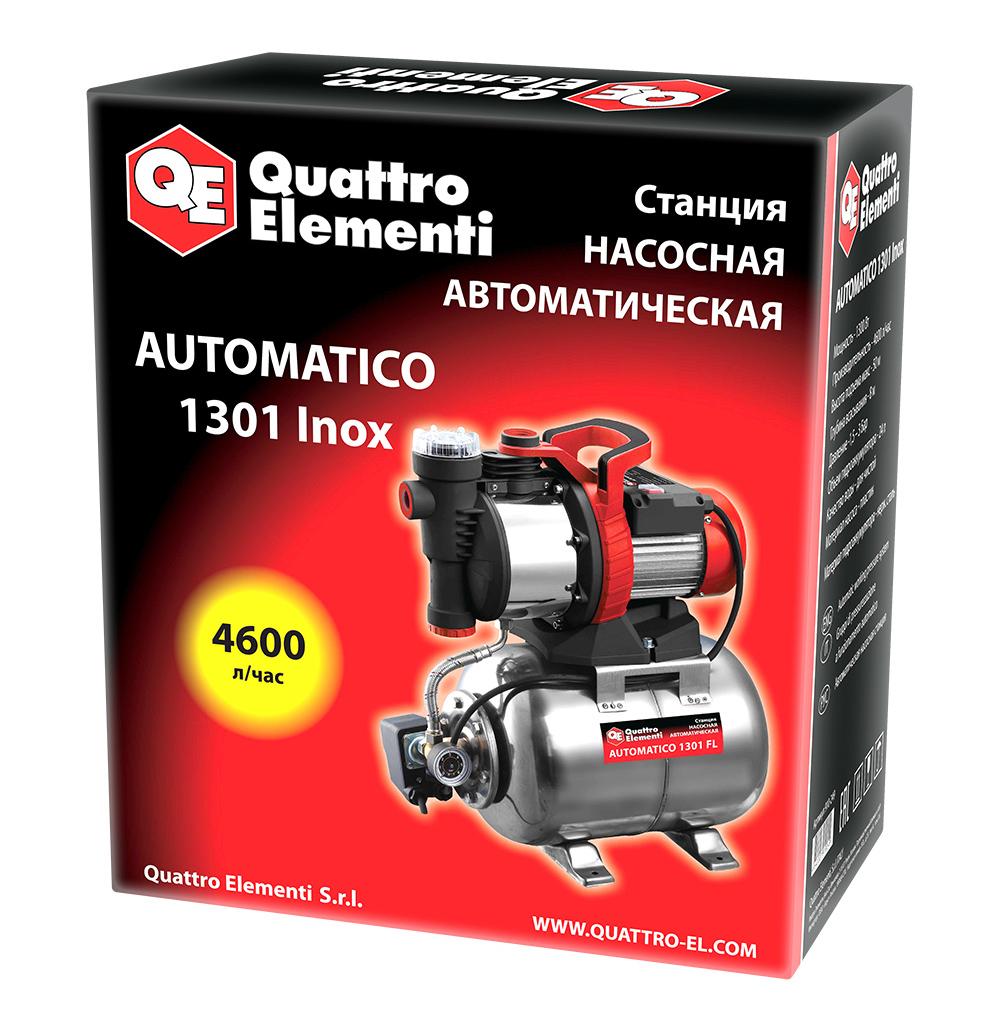 Фото Насосная станция Quattro Elementi Automatico 1301 FL Inox (1300 Вт, 4600 л/ч, для чистой, 50 м, 16,2 кг) {910-249} (6)