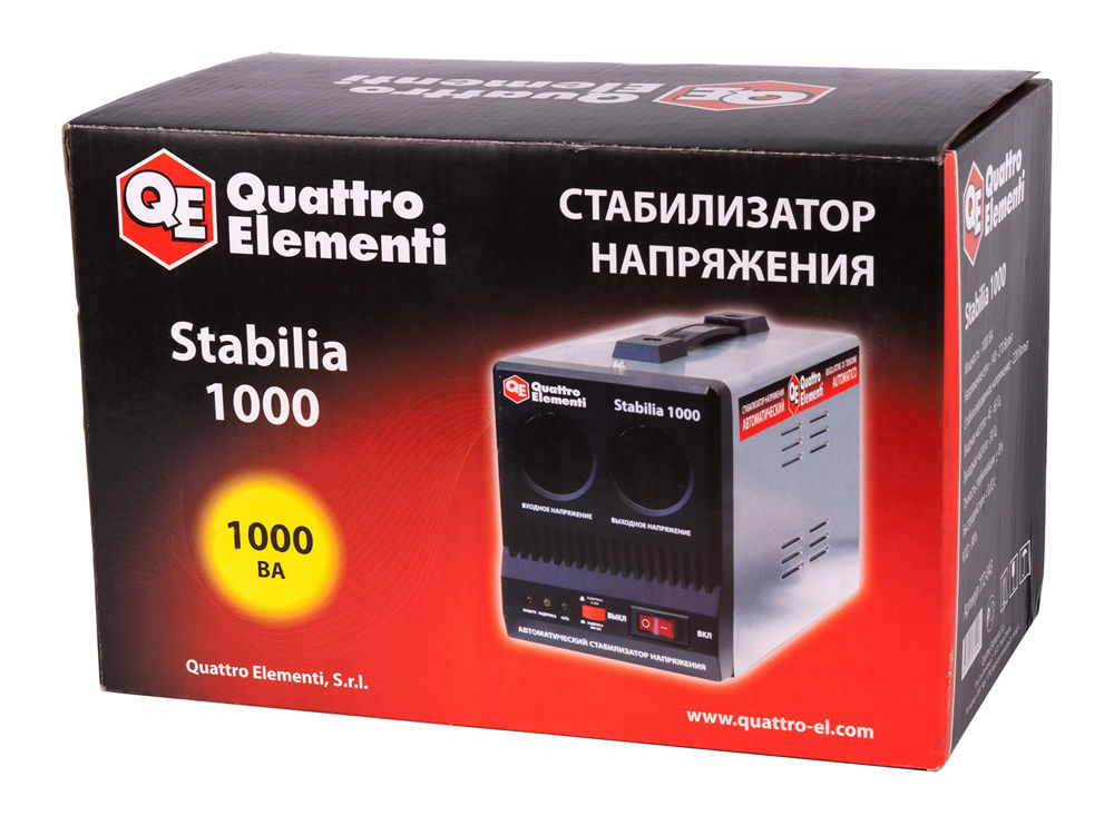 Фото Стабилизатор напряжения Quattro Elementi Stabilia 1000 (1000 ВА, 140-270 В, 2,7 кг) {772-043} (4)