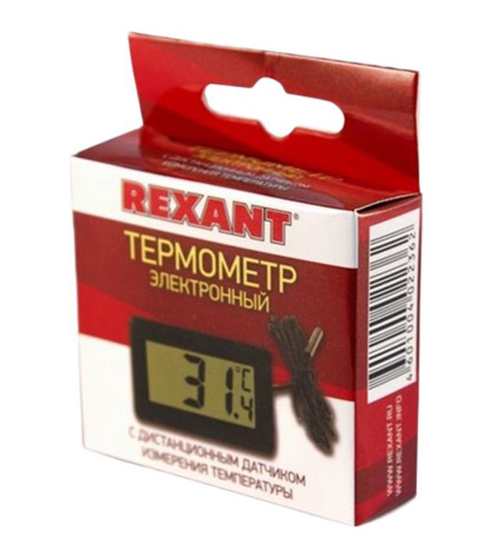 Фото Термометр электронный Rexant с дистанционным датчиком измерения температуры {70-0501} (1)