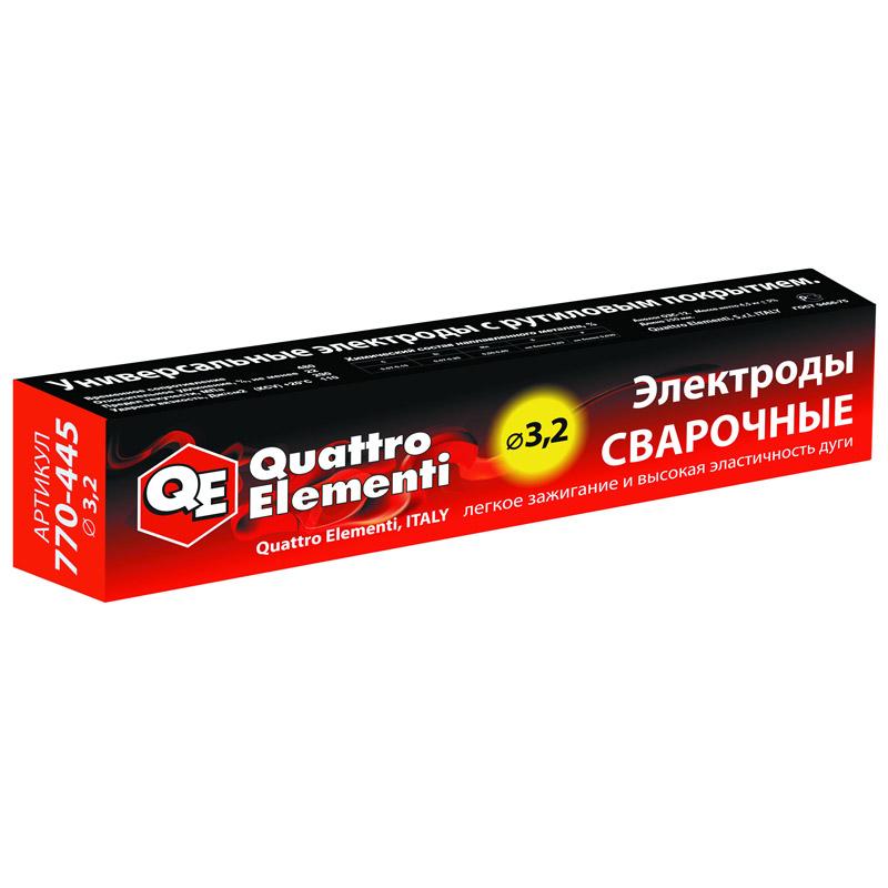 Фото Электроды сварочные Quattro Elementi рутиловые, 3.2 мм, масса 4.5 кг {770-445}
