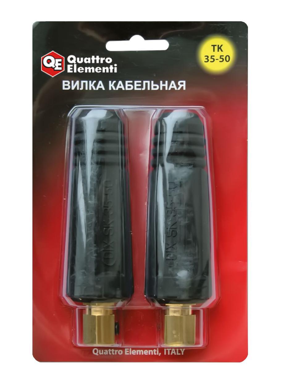 Фото Кабельный разъем Quattro Elementi вилка сварочного кабеля ТК 35-50 (до 315 А/45В) (2 шт.) {771-183}