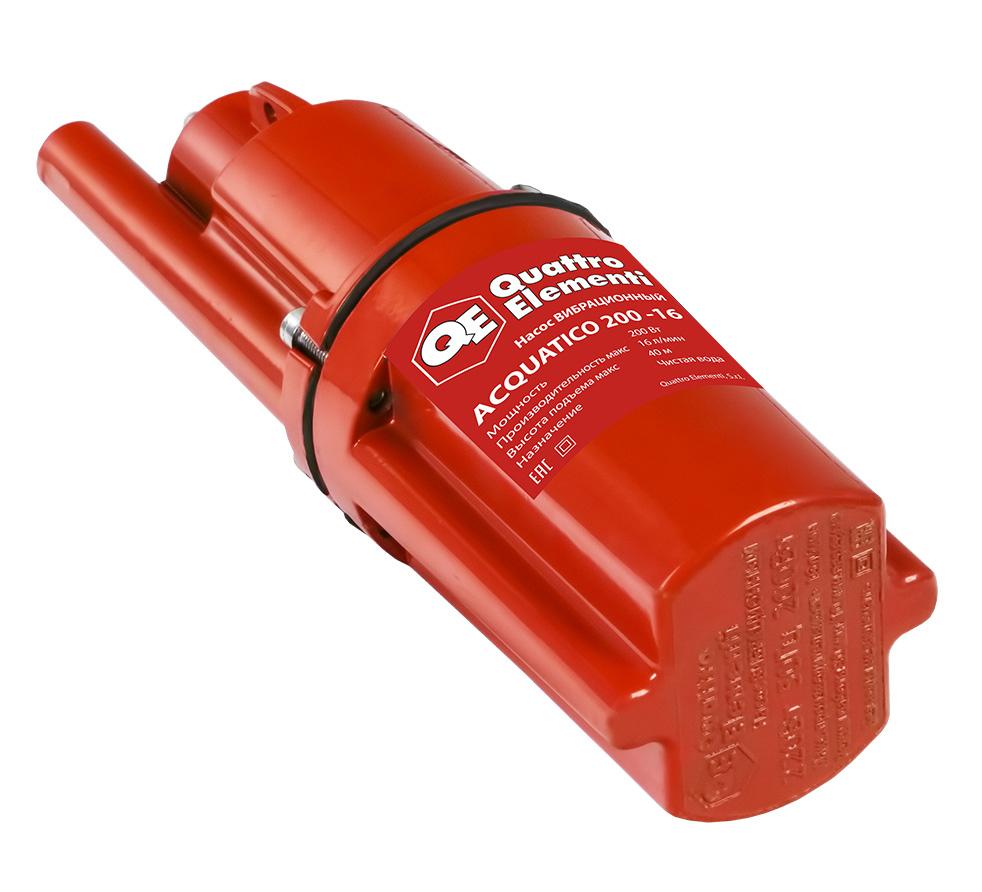 Фото Вибрационный насос Quattro Elementi Acquatico 200-16 (200 Вт, 960 л/ч, для чистой, 40 м, кабель 16 м, 2,7 кг) {919-051} (1)