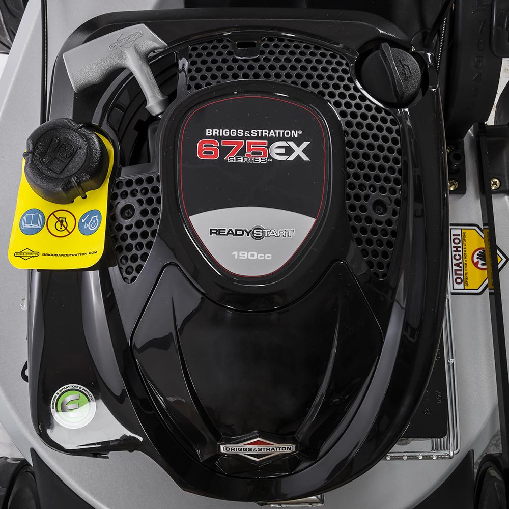 "Фото Газонокосилка бензиновая DDE LMS 53-70 DBA (""Симфония"", алюминиевый корпус 5 мм, самоходная, 53 cм, B&S 675 EXI, 6 л.с, двойн.подшип.колес, 43 кг) {24 (5)"