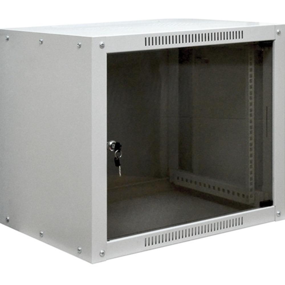 """Фото 19"""" Настенный шкаф Proconnect 9U 600×600×500 (разобранный) RAL 7035 {04-2061}"""