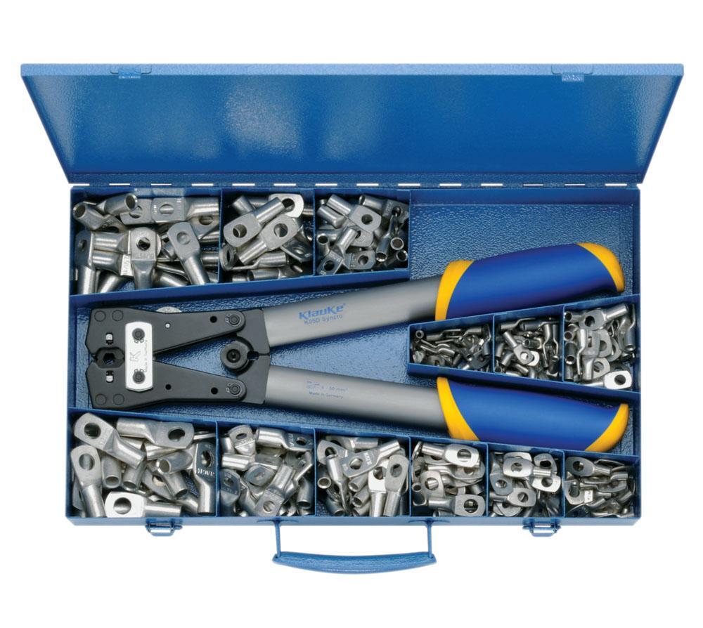 Фото Набор пресс-клещи K05D и трубчатые наконечники Klauke DIN 6-50 мм² {klkSK50B}