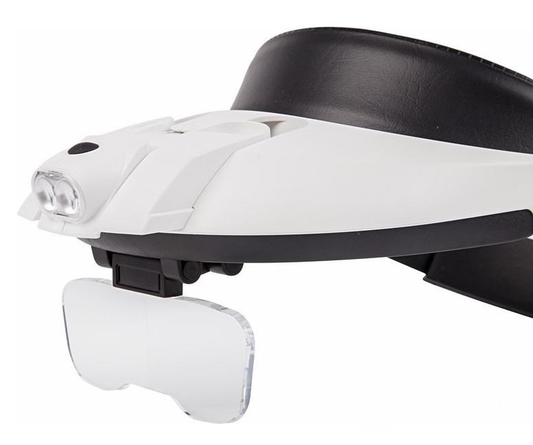 Фото Бинокуляр монтажный Rexant с 2хLED подсветкой, 1.2X / 1.8X / 2.5X / 3.5X {12-0402} (1)