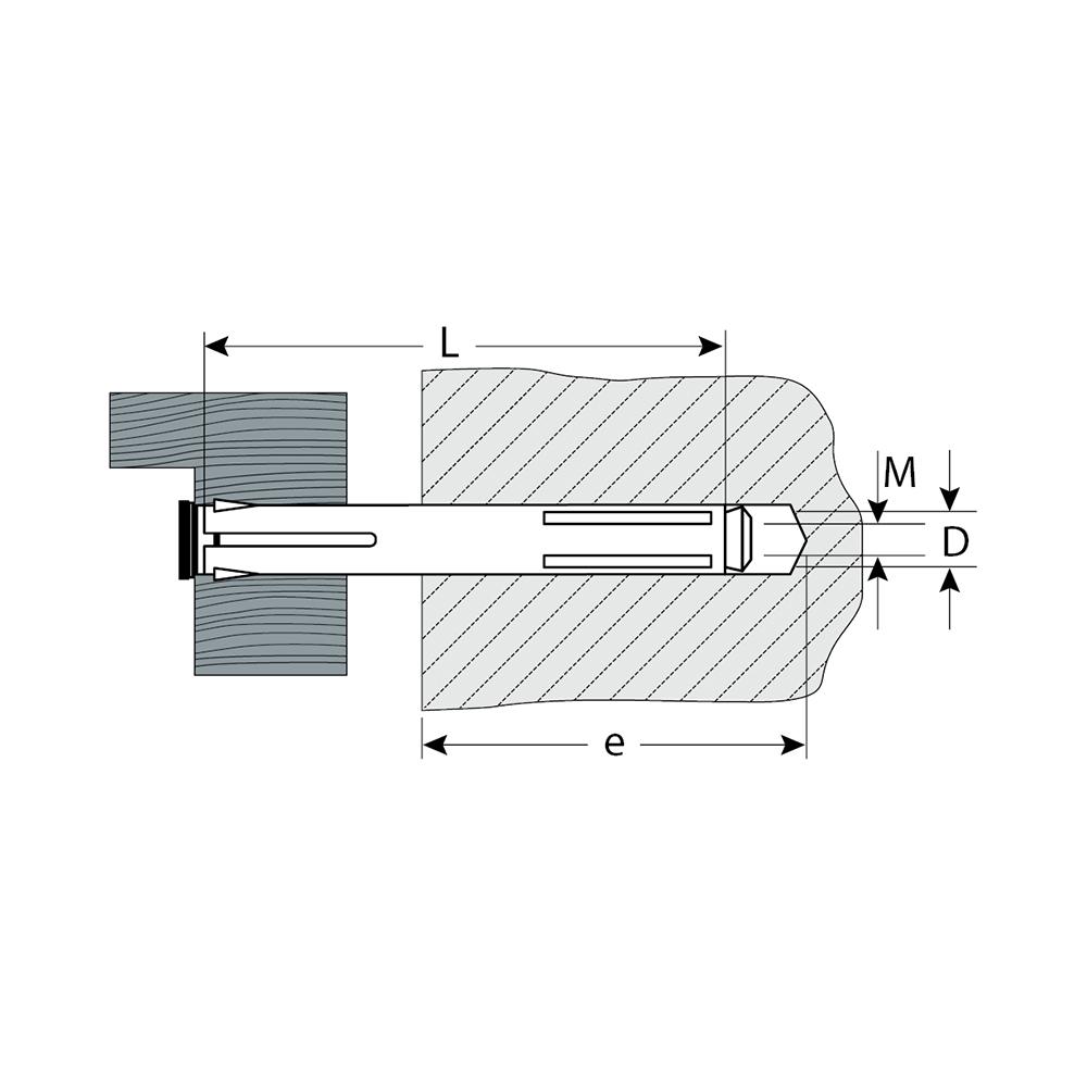 Фото Анкер рамный с потайной головкой, 10х202 мм, 2 шт, Pz, оцинкованный, ЗУБР {4-302236-10-202} (1)