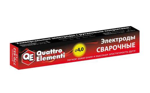 Фото Электроды сварочные Quattro Elementi рутиловые, 4.0 мм, масса 4.5 кг {770-452}