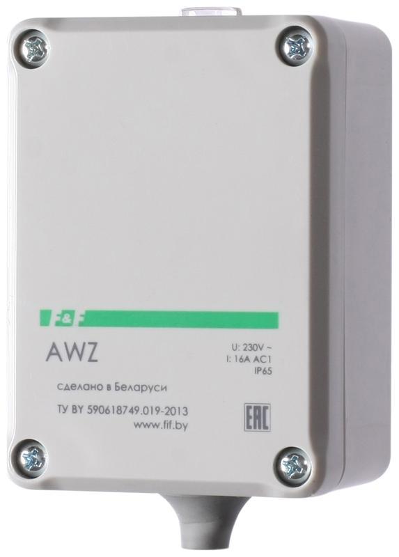 Фото Фотореле AWZ (встроен. фотодатчик монтаж на плоскость 230В 16А 1 НО IP65) F&F EA01.001.003 (1)