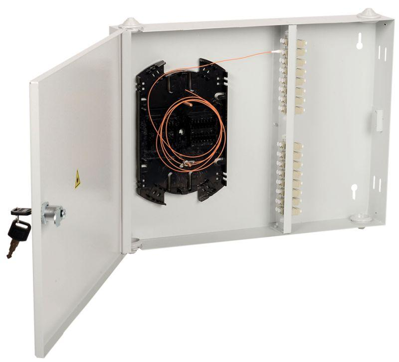 Фото Кросс укомплектованный настенный LC (duplex) 16 портов (OS2) ITK FOBX16-N-16LCUD09