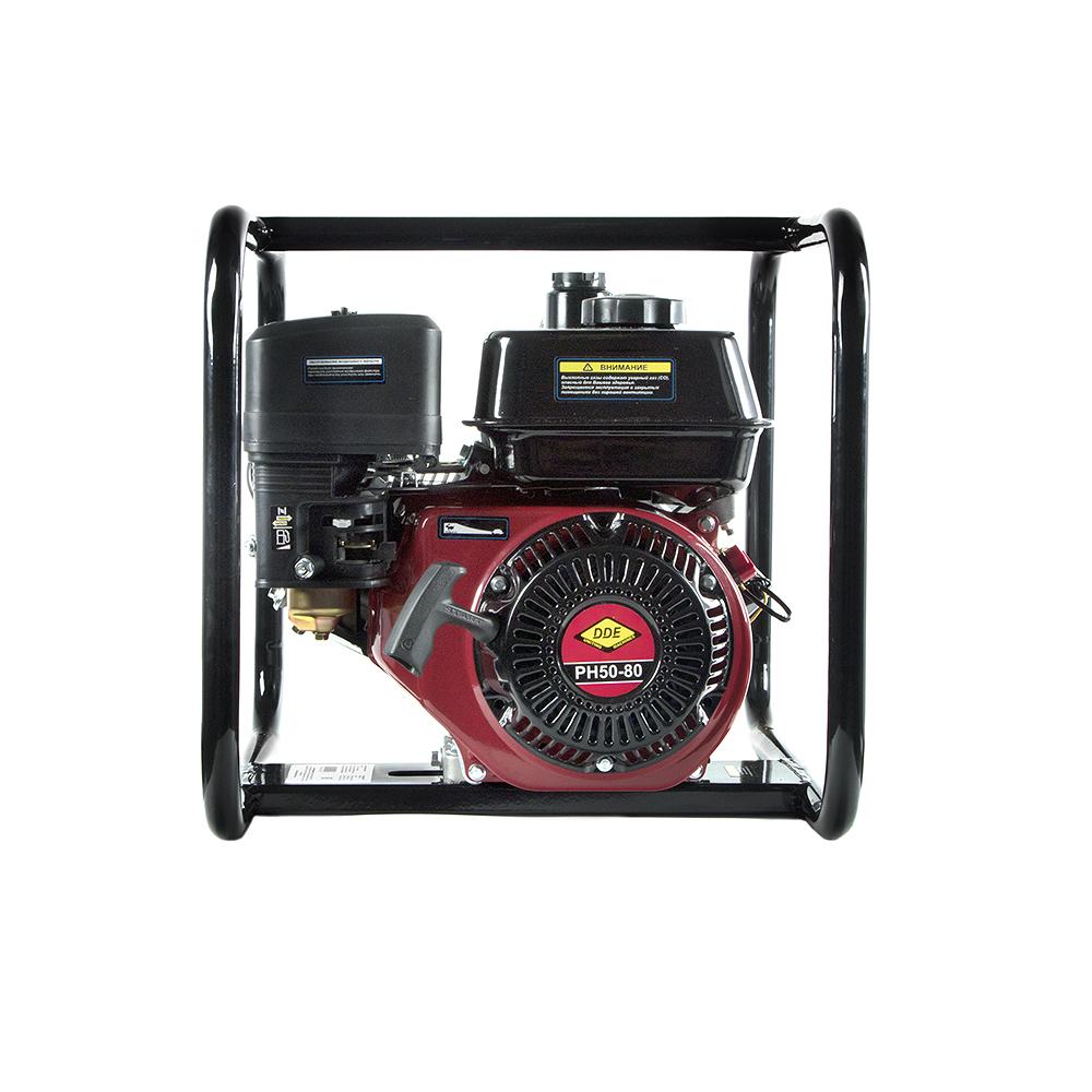 Фото Мотопомпа бензиновая высоконапорная DDE PH50-80 (выход 50 мм, 7 л.c, 80 м, 18 м.куб/час, бак 3,6 л, 30 кг) {PH50-80} (1)