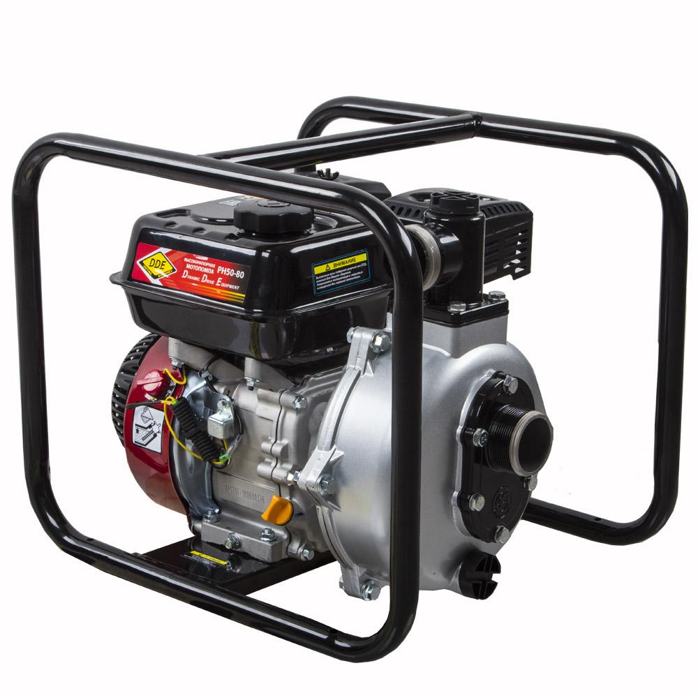 Фото Мотопомпа бензиновая высоконапорная DDE PH50-80 (выход 50 мм, 7 л.c, 80 м, 18 м.куб/час, бак 3,6 л, 30 кг) {PH50-80} (4)
