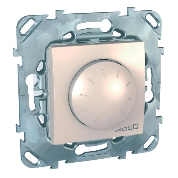 Фото UNICA диммер пов-наж,д/ламп накал,галог,3-пров подкл, 230в,40вт,1000 ва, бежевый {MGU5.512.25ZD}