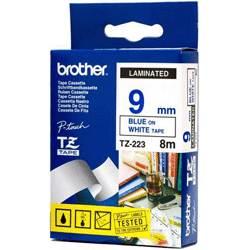 Фото Лента Brother TZE-223 (9 мм, синий на белом) {TZE223} (2)
