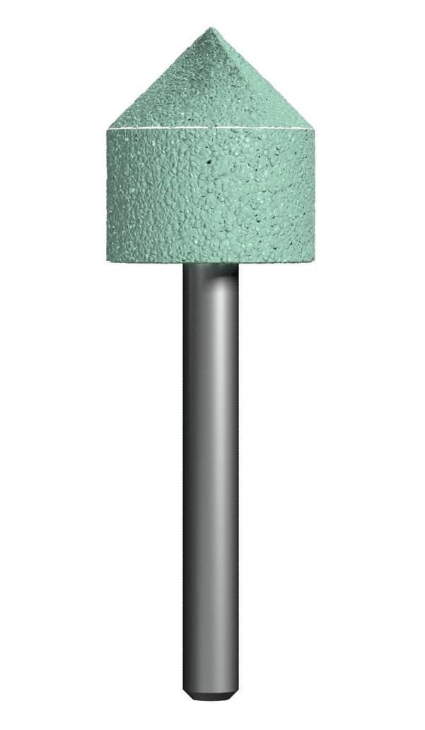 Фото Шарошка абразивная Практика, цилиндрическая заостренная 22х50 мм {641-343}