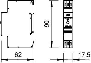 Фото Устройство защиты от импульсных перенапр. УЗИП для силовых сетей (Класс III) 230В VF230 AC/DC-20 OBO 5097916