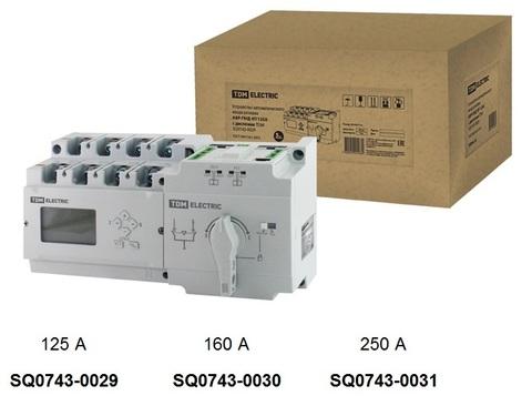 Фото Устройство автоматического ввода резерва АВР-ПНД 4П 160А 380В с дисплеем ТDM {SQ0743-0030}