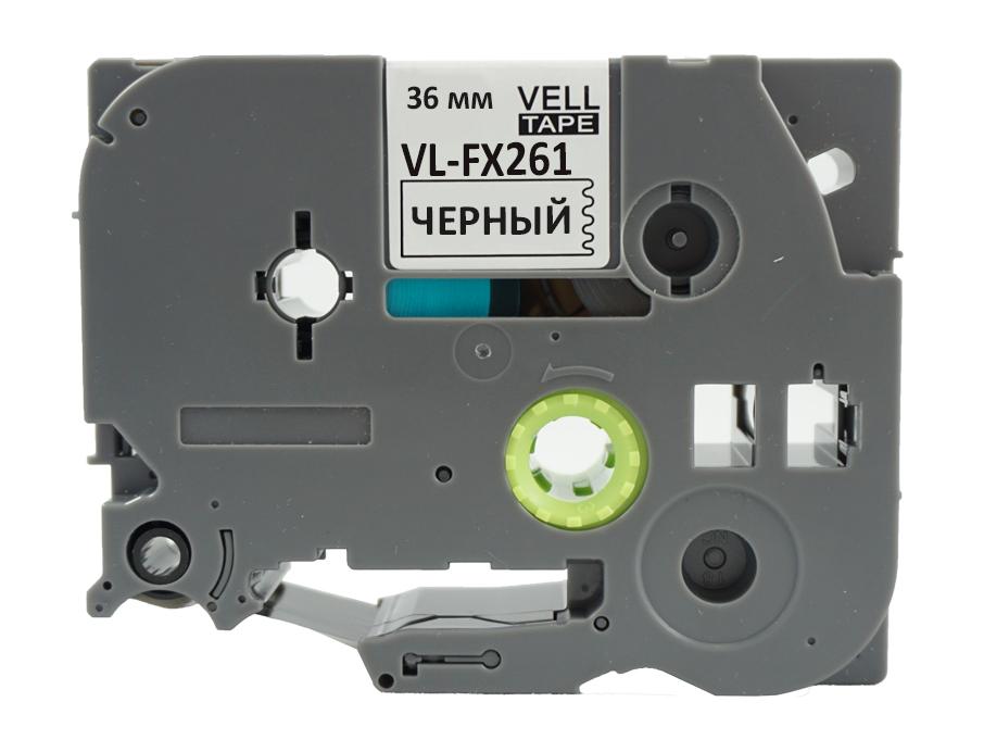 Фото Лента Vell VL-FX261 (Brother TZE-FX261, 36 мм, черный на белом) для PT9700/P900W {Vellfx261} (1)