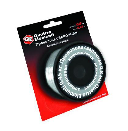 Фото Проволока сварочная Quattro Elementi алюминиевая, 0.8 мм, масса 0.45 кг {770-391}