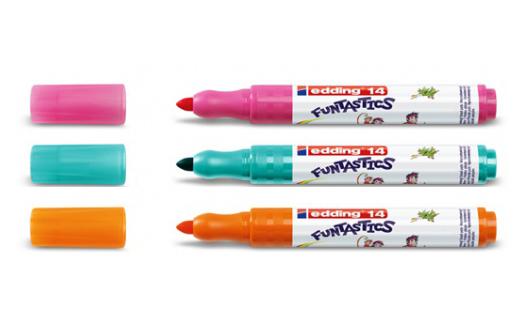 Фото Набор маркеров для рисования Edding FUNTASTICS, 3 мм, 10 цветов, картонная коробка {E-14#10S} (1)