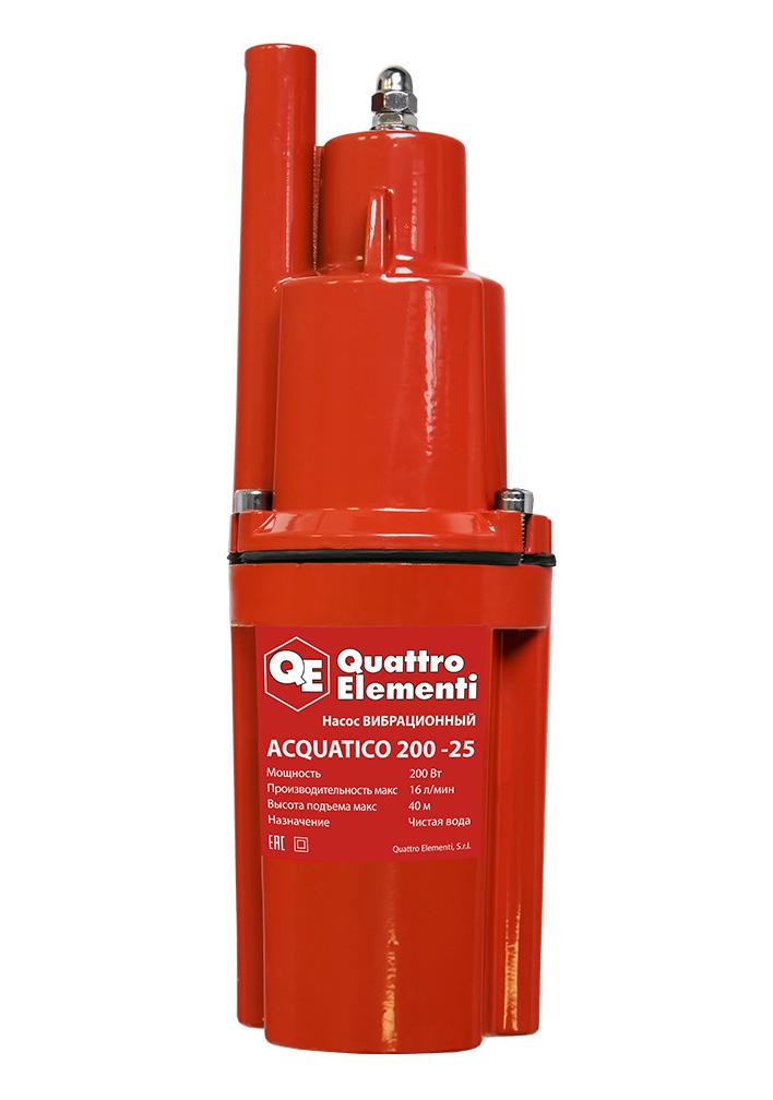 Фото Вибрационный насос Quattro Elementi Acquatico 200-25 (200 Вт, 960 л/ч, для чистой, 40 м, кабель 25 м, 3,26 кг) {919-068}