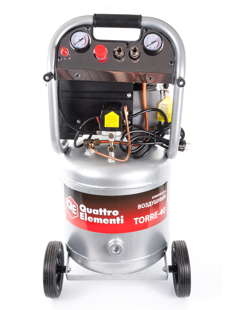 Фото Компрессор поршневой масляный Quattro Elementi TORRE-40 (300 л/мин, 40 л, 2,5 л.с, 8 бар, 32 кг, вертикальный) {770-261} (1)