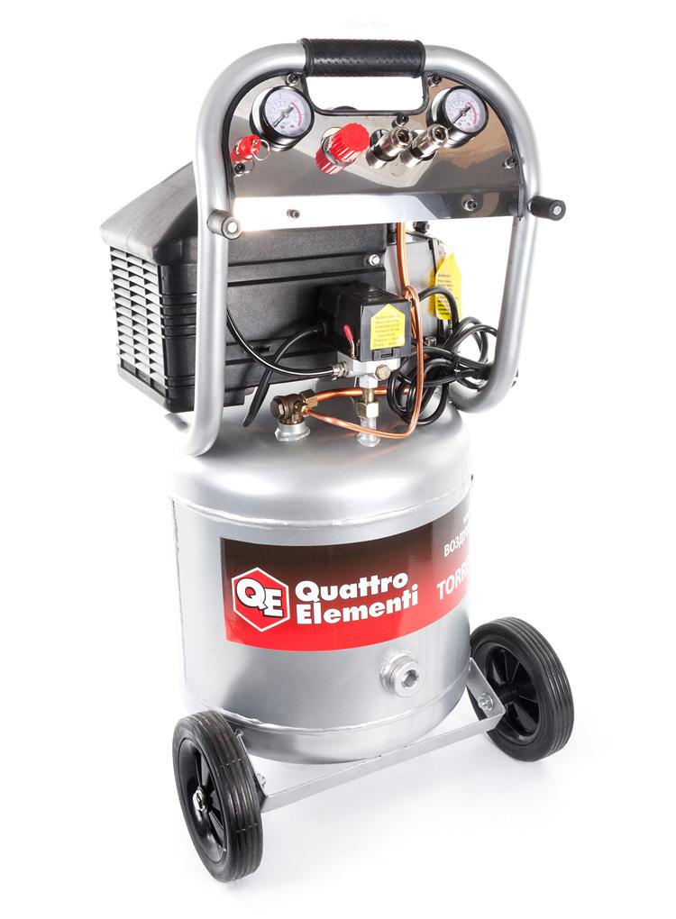 Фото Компрессор поршневой масляный Quattro Elementi TORRE-40 (300 л/мин, 40 л, 2,5 л.с, 8 бар, 32 кг, вертикальный) {770-261} (3)