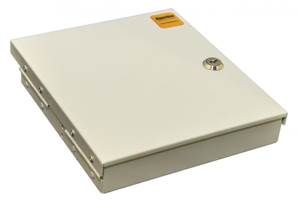 Фото Бокс FO-WBY-8UN-MI оптич. универс. настен. на 8 портов (SC duplex LC; ST; FC) с держателем для 8 КДЗС фиксат. центральн. сил. элемента зажимом