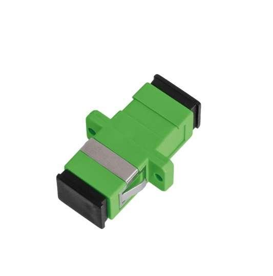 Фото Адаптер волоконно-оптический соед. одномод. SC/APC-SC/APC одинарн. пласт. зел.(уп.2шт) NIKOMAX NMF-OA1SM-SCA-SCA-2