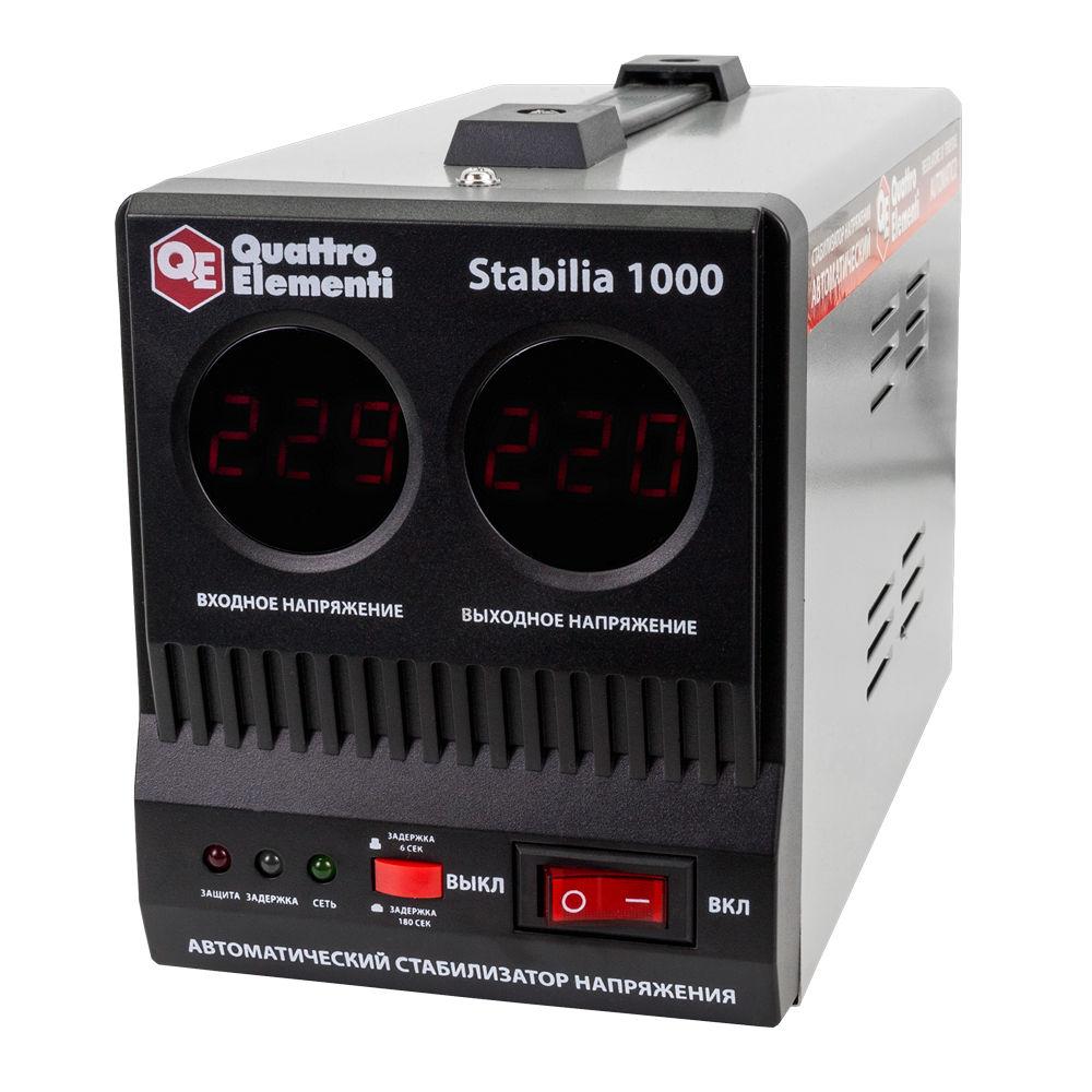 Фото Стабилизатор напряжения Quattro Elementi Stabilia 1000 (1000 ВА, 140-270 В, 2,7 кг) {772-043}