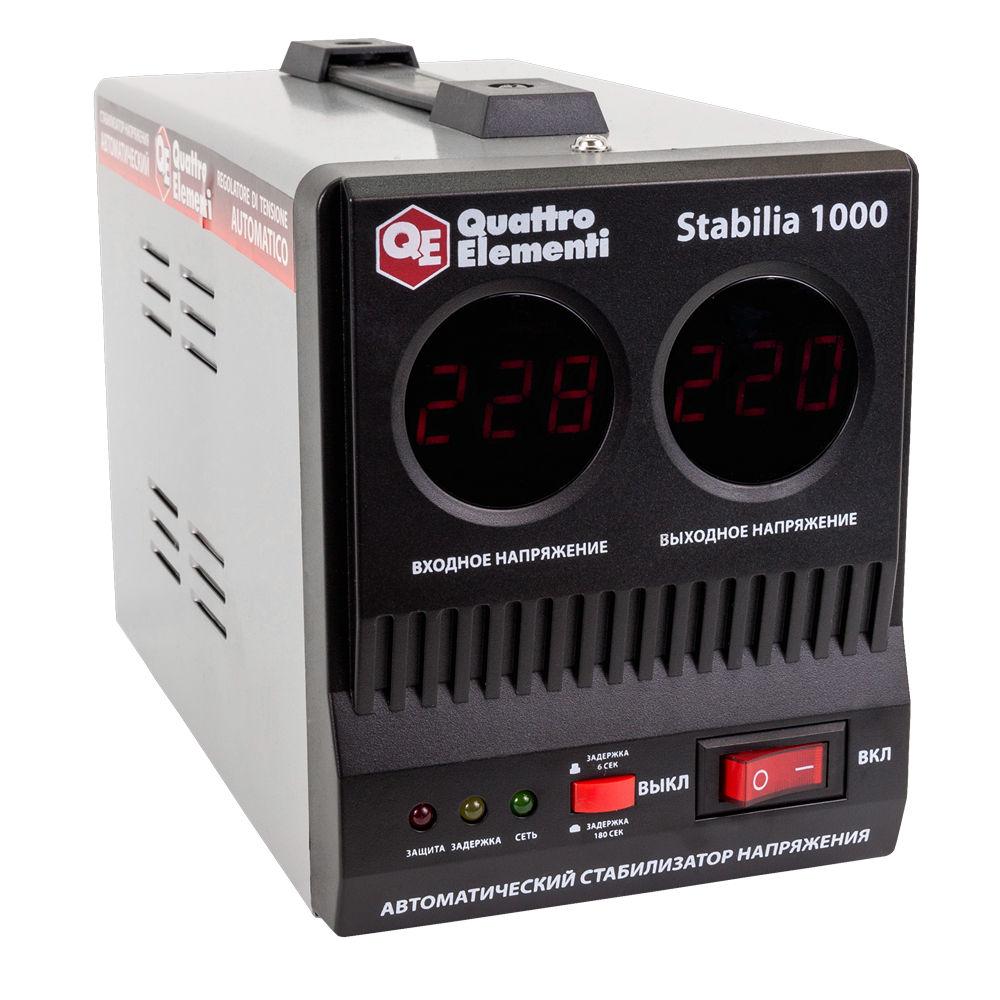 Фото Стабилизатор напряжения Quattro Elementi Stabilia 1000 (1000 ВА, 140-270 В, 2,7 кг) {772-043} (2)