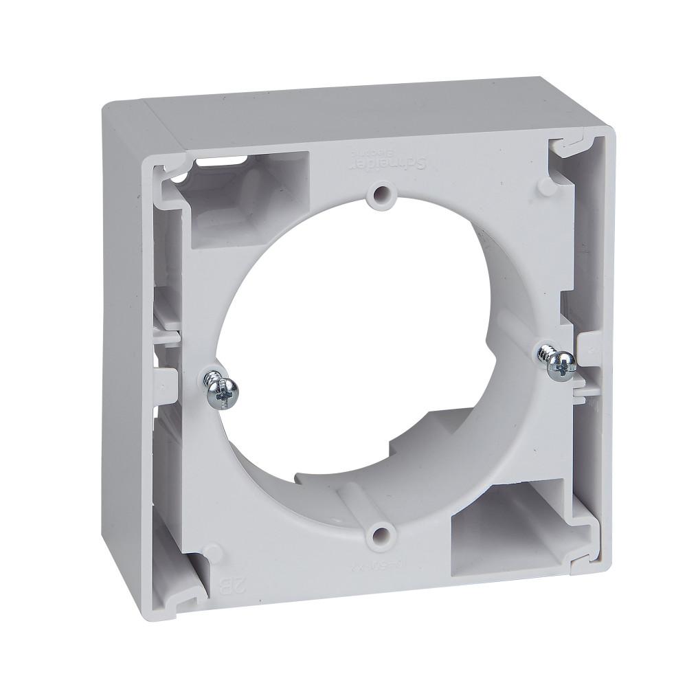Фото Коробка для наружного монтажа SEDNA, одиночная, белый {SDN6100121}