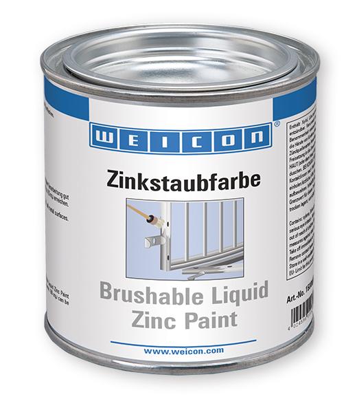 Фото Защитная грунтовка Weicon Brushable Zinc Paint, цинк (375 мл) {wcn15000375}
