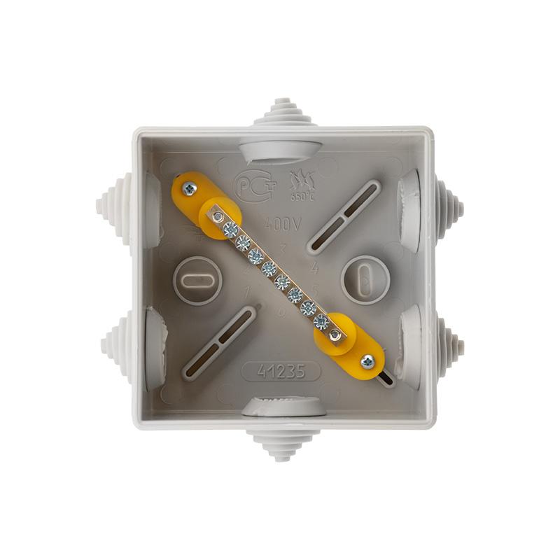 Фото Коробка уравнивания потенциалов Rexant, ОУ 85×85×40 мм, IP44 {28-3050} (2)