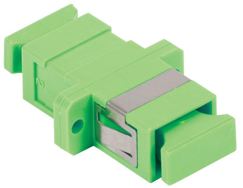 Фото Адаптер проходной SC-SC для одномодового и многомодового кабеля (SM/MM); с полировкой APC; одинарного исполнения (Simplex) ITK FC1-SCASCA1C-SM