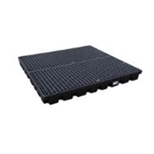 Фото Низкопрофильный пластиковый поддон HSW-2-BB Workfloor с решеткой на 2 бочки {spc196261}