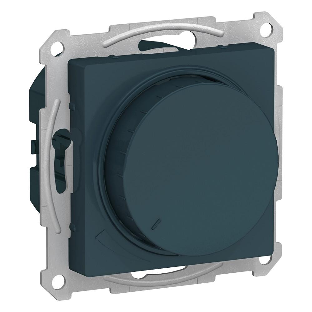 Фото Светорегулятор (диммер) поворотно-нажимной ATLASDESIGN, 630вт, мех., изумруд {ATN000836}